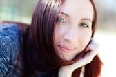 Beautiful redhead girl — Stock Photo