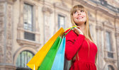 Woman shopping in Milan — Stock Photo