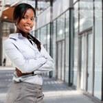 Красивые Африканской предприниматель — Стоковое фото