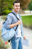Male student outdoor — Stock Photo