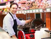 Shopkeeper at work — Foto Stock