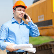 Engineer talking on phone — Stock Photo