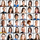 Smiling people faces — Stock Photo