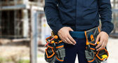 Worker's tool belt — Stock Photo