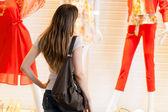 žena nakupování ve městě — Stock fotografie