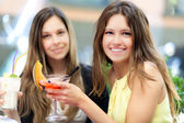 Friends having a cocktail — Stock Photo