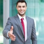 Businessman offering handshake — Stock Photo #46591921