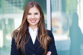 Smiling business woman — Stock Photo