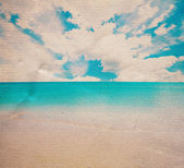 Vintage looking tropical sea picture — 图库照片