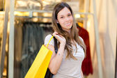 Woman shopping in the city — Stock Photo