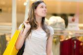 Kobieta zakupy w mieście — Zdjęcie stockowe