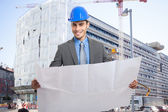 Smiling architect at work — Stock Photo
