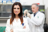 Researcher in a modern lab — Stock Photo