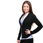 Young beautiful businesswoman — Stock Photo
