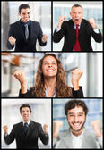 Portraits of successful people — Stock Photo