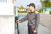 Gas station worker — Stock Photo