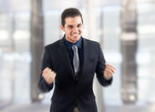 Successful happy man — Stock Photo