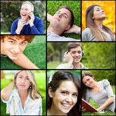 Portraits of happy people — Stock Photo
