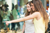 Women doing shopping — Stock Photo