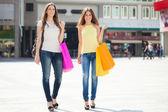 Women doing shopping — Foto Stock