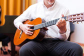 Classical guitar player — ストック写真