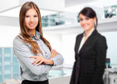 Businesswomen in a modern office — Stock Photo