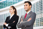 Business people in urban environment — Stock Photo