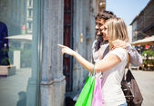 Couple doing shopping — Stock Photo