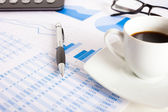 Business reports and charts — Foto Stock