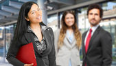 Business team outdoors — Foto Stock