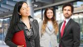 Business team outdoors — Foto de Stock