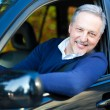 Mature man driving his car — Stock Photo #50348535
