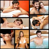 People relaxing in spa — Stock Photo