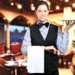 Beautiful waitress portrait — Stock Photo #50351741