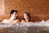 Couple doing whirlpool bath — Stock Photo