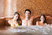 Friends relaxing in spa — Stock Photo