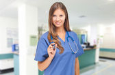 Young smiling nurse — Stock Photo