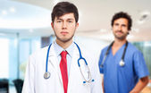 Two medical workers — Foto Stock