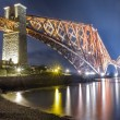Stock Photo: Night over Forth Road Bridge