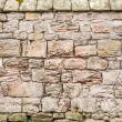 Medieval wall made from big stone — Stock Photo