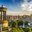 View of the castle from Calton Hill at sunset — Stock Photo #12306208