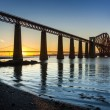 Stock Photo: Sunset over Forth Road Bridge