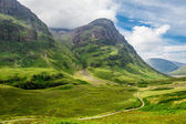 Green hills in the Scottish highlands — Стоковое фото