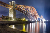 Night over the Forth Road Bridge — Stock Photo