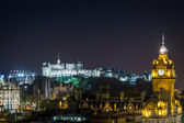 Citylight of Edinburgh by night — Stock Photo