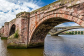 Starý most v berwick-upon-tweed — Stock fotografie