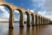 Ponte ferroviario pietra a berwick-upon-tweed — Foto Stock