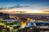 θέα στο ηλιοβασίλεμα πάνω από το εδιμβούργο — Φωτογραφία Αρχείου