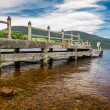 Stock Photo: Old harbor over Loch Ness in Scotland