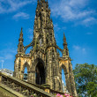 View of Scott Monument in Scotland — Stock Photo